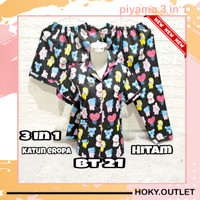 Hoky.Outlet Piyama 3 in 1 Baju Tidur Exclusive BTS/Fit to XL