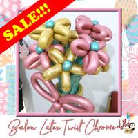 SALE!!! Balon Latex Twist 260 Magic Pentil Chrome Harga Special Ecer