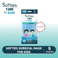 Softies Surgical FOR KIDS Mask Earloop 3 ply Masker 5 pcs