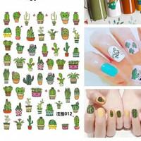 sticker kuku kaktus nail art stickers cactus