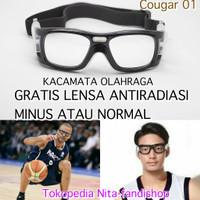 kacamata frame Olahraga sporty Basket/futsal/volly paket lensa minus