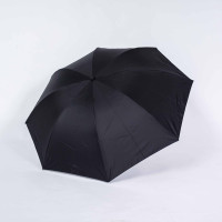 Payung lipat 3 polos hitam kuning / lapis hitam / anti UV / GRC - A303