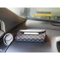 TECHNOZIO Tempat tisu mobil Abu Skak / Kotak tisu mobil