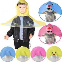 Jas Hujan Anak Bentuk Payung Umbrella Raincoat UFO Lucu - Merah Muda