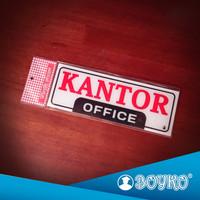 "Acrylic Sign / Papan Tanda Akrilik "" Kantor """