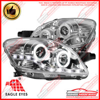 HEADLAMP - TOYOTA VIOS 2007-2013 - CHROME - ANGEL EYES - STARLINE