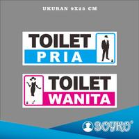 "Acrylic Sign / Papan Tanda Akrilik "" Toilet pria & toilet wanita """