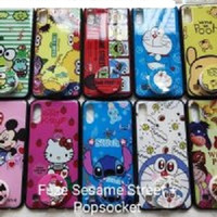 SOFT CASE FUZE GLASS SESAME STREET ,DLL + POPSOCKET - SAMSUNG A01 CORE