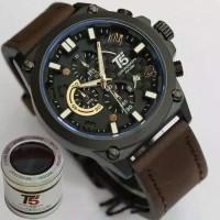 jam tangan pria cowok T5 T 5 ori original anti air tali kulit crono
