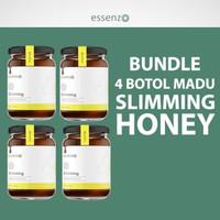 Bundle 4 Botol Slimming Honey | Madu | Diet | Obat Pelangsing |Essenzo