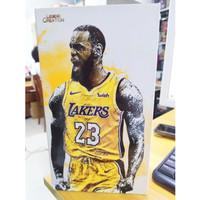 LeBron James King James 23 LA Lakers MVP FIgure 1/9 Basket NEW