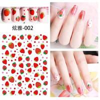 strawberry nail art stickers kuku strawberry