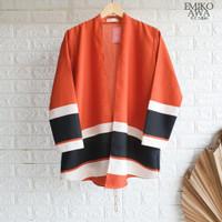 Baju Outer Orenji - Emikoawa Cardigan Vest Outerwear Wanita Premium