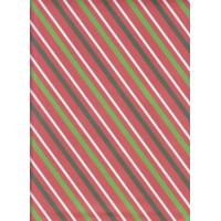 """Kertas Kado Sansan Wawa SW 5589 pettern/stripe/diagonal/Christmas"""""""