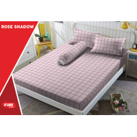 Sprei Kintakun D'luxe - Tinggi 30cm - ROSE SHADOW - 160x200 (Queen)