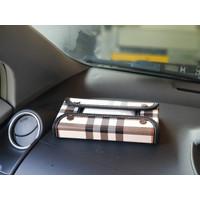TECHNOZIO Tempat tisu mobil Ivory Garis / Kotak tisu mobil