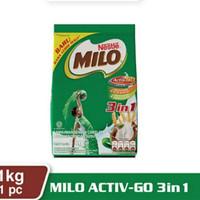 Milo Activ-Go 3 in 1 Kemasan Pouch 1Kg Susu Bubuk