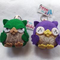 Gantungan Kunci Flanel Owl
