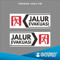 """Acrylic Sign / Papan Tanda Akrilik """" jalur evakuasi kanan & kiri """""""