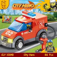 mainan bricks toys lego city pemadam 2 - Hitam