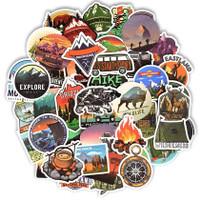 50 pcs Stiker Travel Camping Landscape Koper Rimowa Sticker