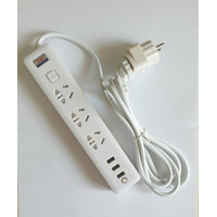 Kabel Extention - Powerstrip 3 USB Port + 3 Electric Plug for Xiaomi