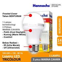 Hannochs Lampu LED Tricolour 14 watt 3 Warna Cahaya BULB BOHLAM 14W