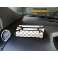 TECHNOZIO Tempat tisu mobil Cream Skak / Kotak tisu mobil