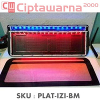 Cover Plat Tatakan Dudukan Plat Nomor Izy Illumination LED 2 Warna