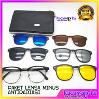 Kacamata 5 Lensa Model Vintage GRATIS LENSA MINUS/PLUS/ANTIRADIASI