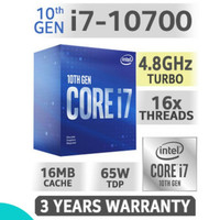 Processor Intel Core I7 10700 Box Comet Lake Socket LGA 1200 Performa