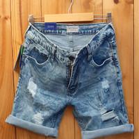 celana jeans pria/short jeans/ripped jeans/celana jeans pendek