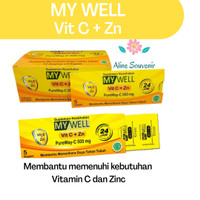 MY WELL Vitamin C + Zn (1 Amplop isi 5kaplet)