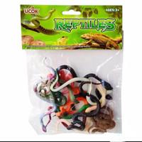 Mainan Binatang Reptile Ular 12 pcs