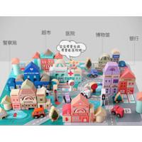 city building block magic color/115pcs