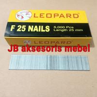 ISI PAKU TEMBAK NAILS F25 LEOPARD / REFILL STAPLES TEMBAK LURUS 25 mm