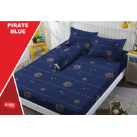 Sprei Kintakun D'luxe - Tinggi 30cm - PIRATE BLUE - 160x200 (Queen)