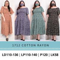 JUMBO 1712 DOMINIC DRESS BIGSIZE BAHAN KATUN RAYON FIT XXXL LONGDRESS