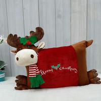 Boneka Bantal Natal Rusa Persegi 30x45cm/boneka christmas/boneka natal