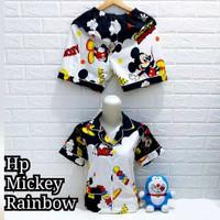 Piyama Hotpants Mickey Rainbow Dewasa