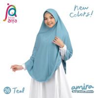 Jilbab Afra Arfa Amira Hijab Kerudung Instan Pet Antem Bergo Teal