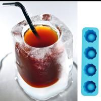 tempat cetakan es batu model gelas mini cetakanves bahan silicone