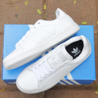 sepatu adidas stand smith - Putih, 37