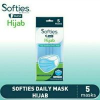 Masker Softies Hijab 3 Ply Isi 5 pcs Jilbab Headloop