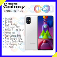 Samsung Galaxy M51 - 8GB/128GB - Garansi Resmi