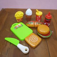 Mainan Kue Potong - Mainan Kue Makanan Cepat Saji