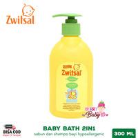Zwitsal Natural Baby Bath 2in1 Hair & Body Sabun Shampo Bayi 300 ml