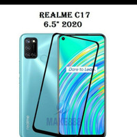 TEMPER GLASS FULL LEM REALME C17 New