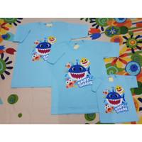 KAOS BABY SHARK FAMILY DADDY MOMMY - baju baby shark anak