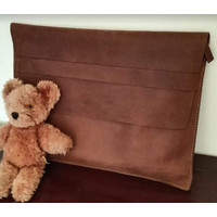 Laptop Case Leather Model Envelove (Sarung Laptop Kulit Amplop)